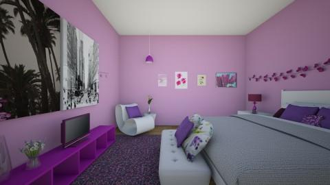 purple - Bedroom - by Katherine Gilbert