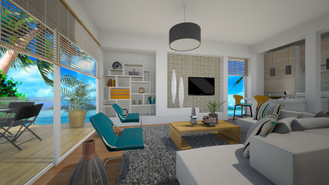 Modern Liv Couple - Modern - Living room - by channing4