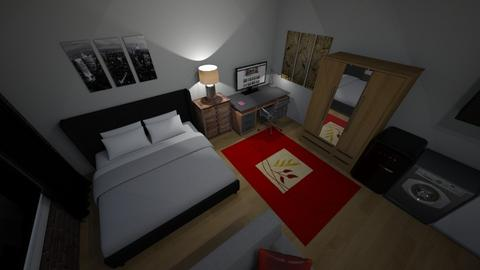 350 bed and desk - Living room - by Mitj Bowman