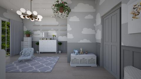 kids clouds a - Kids room - by abida427
