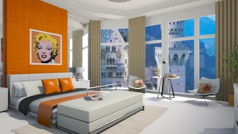 Quarto Laranja - Bedroom - by Elisa Gate