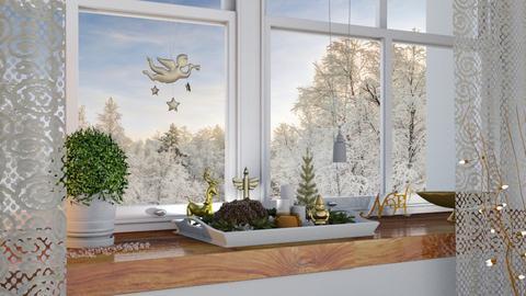 Christmas window - by barnigondi