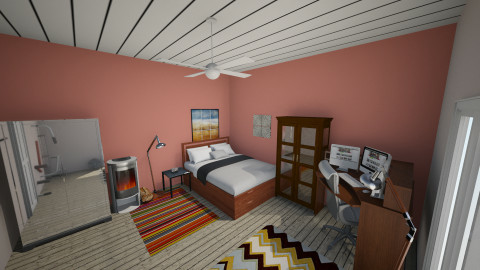 Jonathans room - Masculine - Bedroom - by jeushalumley