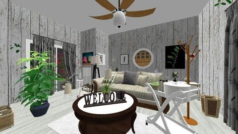 w tonacji spokoju - Living room - by Nati Lovi
