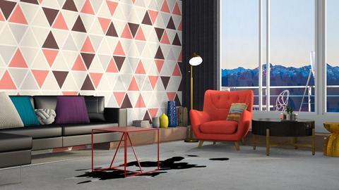geometric living - Living room - by Lilaah