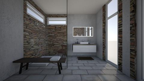 Stone on Stone - Modern - Bathroom - by XiraFizade