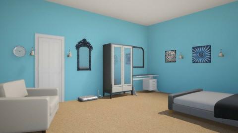 Blue bedroom  - Bedroom - by peachellie