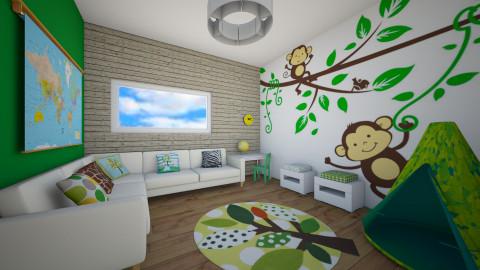 Green Playroom - Kids room - by Katie Kins