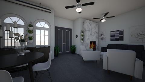 Gray - Classic - Living room - by InteriorQueen0919