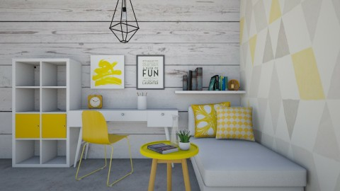 a splash of yellow - Office - by pingbubbles