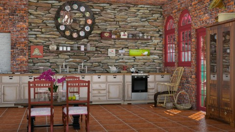 Grandmas Vintage Kitchen  - Country - Kitchen - by InteriorDesigner111