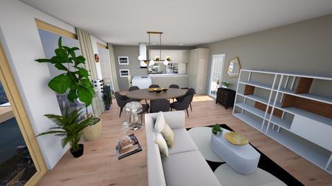 ZH III black kitchen - Modern - Living room - by jessyctw
