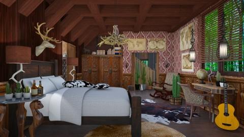 wild west bedroom - Eclectic - Bedroom - by Ida Dzanovic