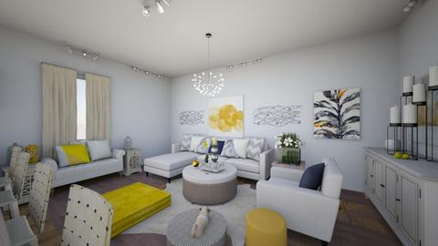 Yellow Interior Living Rm - by maddiedelong333