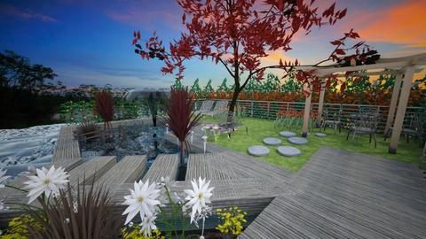 Deck and pond - Garden - by JamieQu