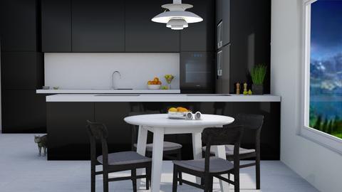 Black Dining - Modern - Dining room - by millerfam