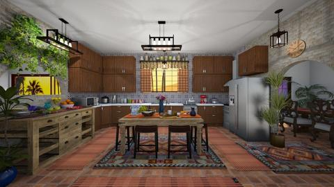 Mexi Kitchen - Rustic - Kitchen - by Kelly Carter