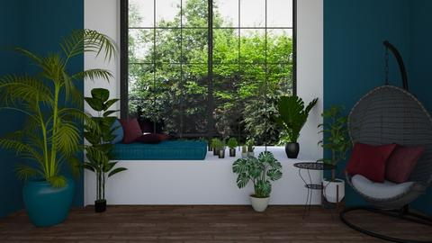 jungle living - Living room - by blackdaisies