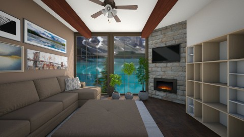 Banff Canda - Living room - by CatLover0110
