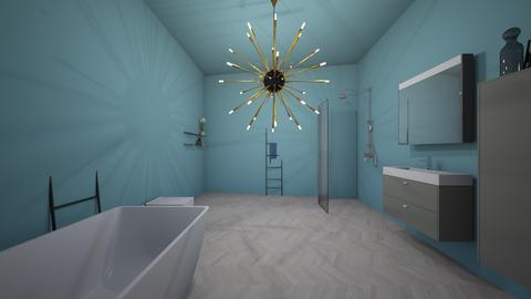 Kids blue bathroom - Bathroom - by Jayox0808080