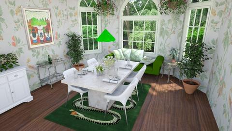 green dining - Eclectic - Dining room - by abby_o