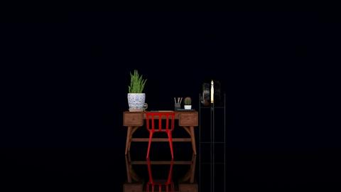 Desk and red chair - Minimal - Office - by HenkRetro1960