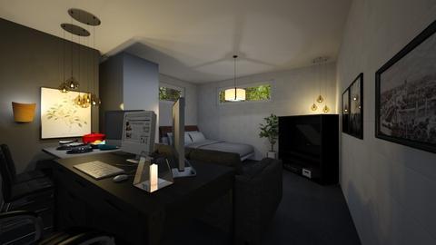 Bed and Hangout Room1 - Minimal - Bedroom - by ayudewi382