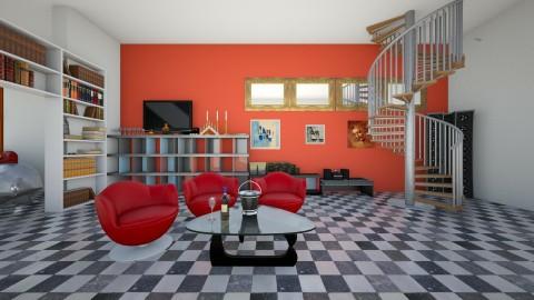 richfamilyhouse - Modern - Living room - by linnda123222