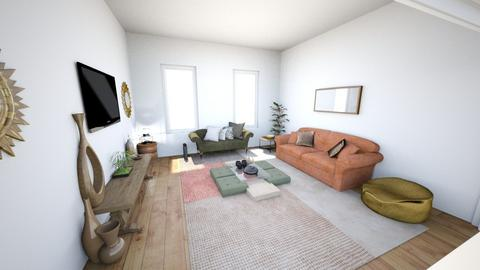 Warm room for living - Eclectic - Living room - by theresjoyhere