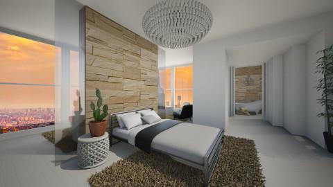 Divided space - Bedroom - by Keliann