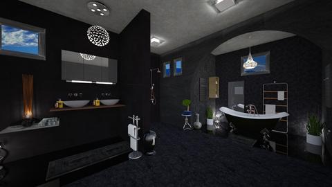 dark colors bathroom - Bathroom - by Moonpearl