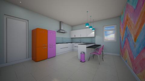 colorful kitchen  - Modern - Kitchen - by TziviaS