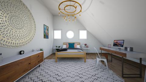 ATTIC BEDROOM - Modern - Bedroom - by molly_designs