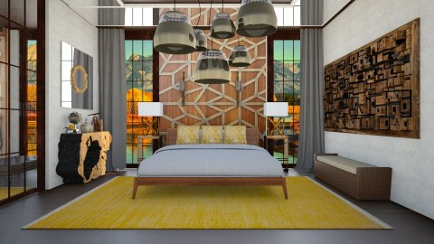 yellow mirror room - by gvidiani_nina