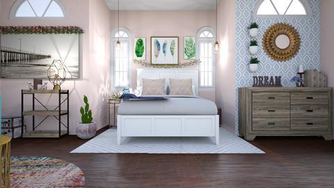 minimalist pink bedroom - Bedroom - by livdesign