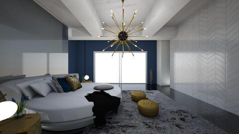 Luxury Gold And Dark Blue - Modern - Bedroom - by FabulousGirl35