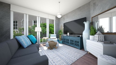 Tv Room - Living room - by abbywabby1