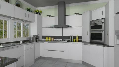 White kitchen - Modern - Kitchen - by Bibiche