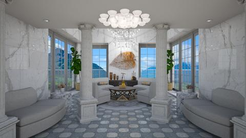 Corinthian Columns - Living room - by Nicky West