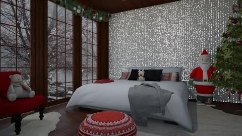 Christmas Bedroom - by Alda Neziri