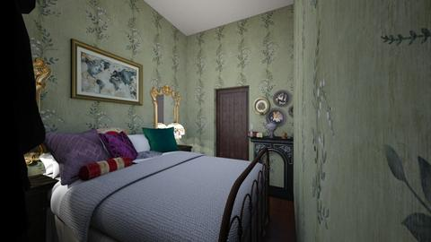Bedroom - Retro - Bedroom - by KatyaRuss
