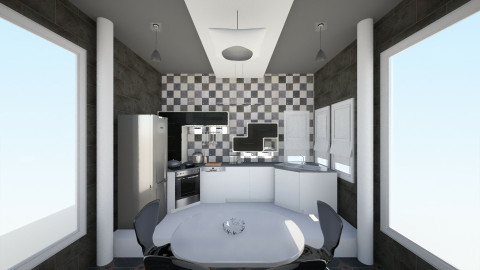 black - Minimal - Kitchen - by rahmadaniah06