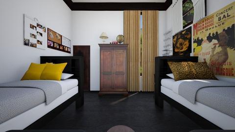 Silas Univ Dorm Room - Bedroom - by SammyJPili