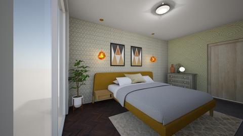 Geo  - Retro - Bedroom - by jessyctw