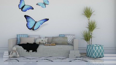 Butterflies - Modern - Living room - by millerfam
