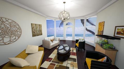 Yellow Seats - Living room - by megan mccauley
