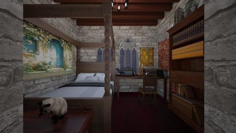 Wizarding School Dorm Rm - Bedroom - by SammyJPili
