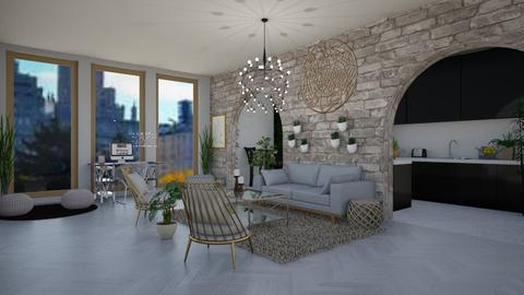 Remix City Boho Apartment - Global - Living room - by stokeshannah