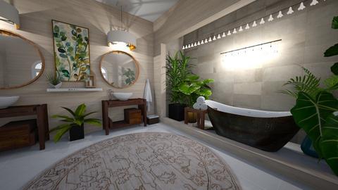 urban jungle bathroom - Bathroom - by nothing77