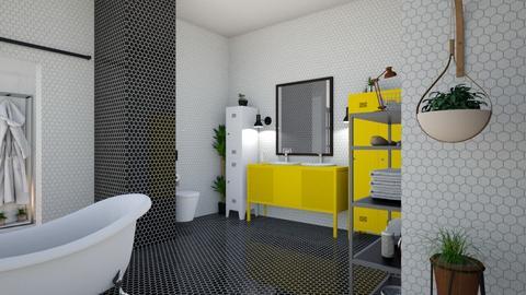 black yellow bath - Bathroom - by BortikZemec